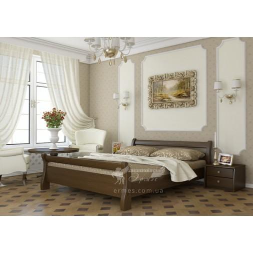 """Ліжко """"Діана"""" Масив Естелла (дерев'яне ліжко з невеликим узголів'ям)"""