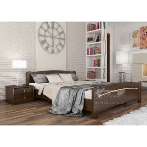 """Ліжко """"Венеція"""" Масив Естелла (дерев'яний ліжко и низьких ізножьем)"""
