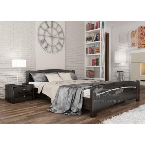 """Ліжко """"Венеція"""" Щит Естелла (дерев'яне ліжко з фігурнім узголів'ям)"""