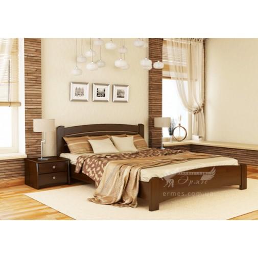 """Кровать """"Венеция Люкс"""" Щит Эстелла (деревянная кровать из бука)"""