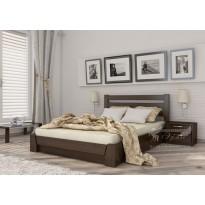 """Ліжко """"Селена"""" Масив Естелла (дерев'яне ліжко з узголів'ям)"""
