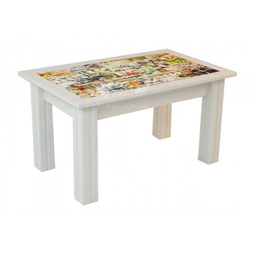 Журнальный столик Альфа Феникс (кофейный столик с рисунком)