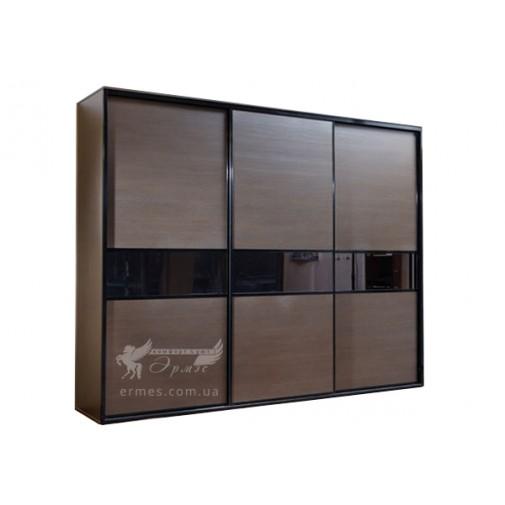 Трехдверный шкаф-купе Ф54 Стандарт Феникс (с комбинированными фасадами)