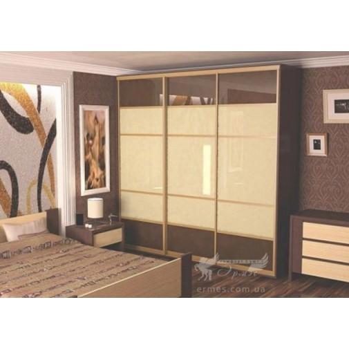 Трехдверный шкаф-купе Ф85 Стандарт Феникс (с комбинированными фасадами для спальни)