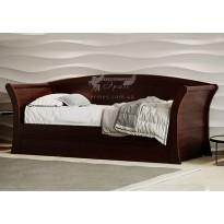 """Дерев'яне ліжко """"Адріатіка"""" GEN mebli (тахта-диван)"""