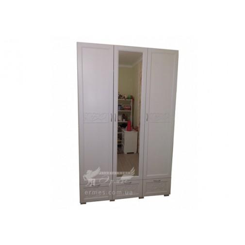 """Шкаф деревянный """"Италия"""" GEN mebli (трехдверный с зеркалом)"""