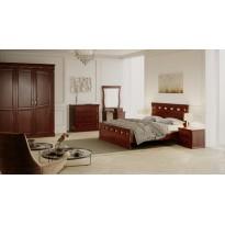 """Деревянная кровать """"Ладья"""" GEN mebli (с высоким изголовьем)"""