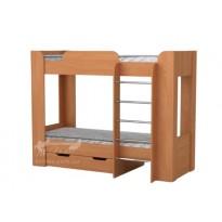 """Кровать """"Твикс-2"""" двухъярусная Компанит (с лестницей и ящиками)"""