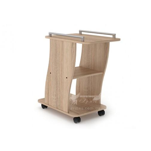 """Журнальный стол """"Вена"""" Компанит (высокий кофейный столик на колесиках)"""