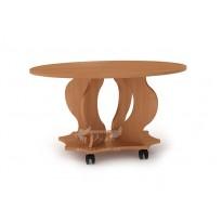 """Журнальний стіл """"Венеція"""" Компанит (овальний кавовий столик на колесах)"""
