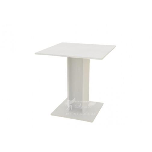 Кухонний стіл КС-7 Компанит (білий на одній ніжці)