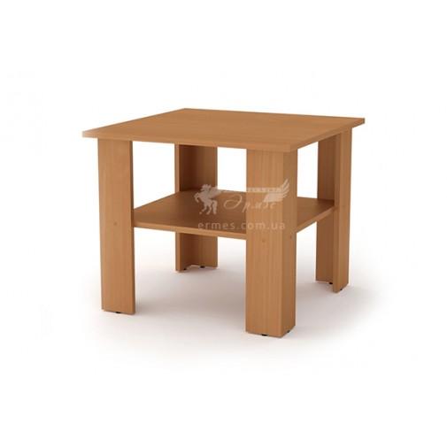 """Журнальный стол """"Мадрид"""" Компанит (квадратный с дополнительной полкой)"""