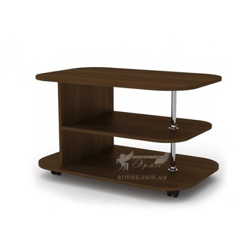 """Журнальный стол """"Танго"""" Компанит (прямоугольный кофейный столик на колесиках)"""