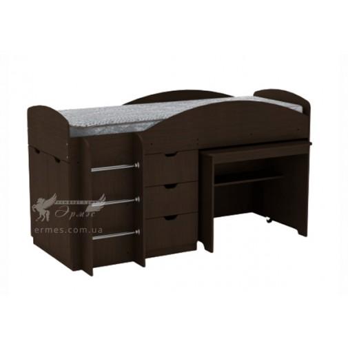 """Кровать """"Универсал"""" Компанит (с ящиком с столом)"""