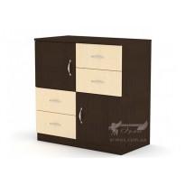 Комод 2+4 Компанит (с ящиками и дверцами)