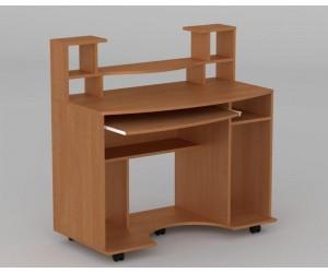 """Комп'ютерний стіл """"Комфорт-1"""" Компанит (з надбудовою на коліщатках)"""