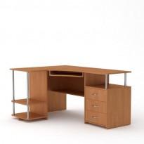 """Комп'ютерний стіл """"СУ-4"""" Компанит (кутовий з тумбою та полицями)"""