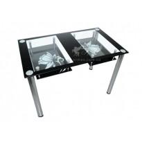 Стол обеденный С-2 M-Destin (стеклянный с хромированными ножками)
