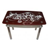 Стол обеденный С-5 M-Destin (стеклянный с декорированной столешницей)
