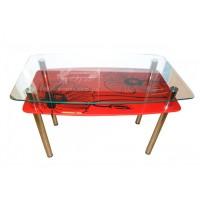 Стол обеденный С-7 M-Destin (стеклянный на хромированной основе)