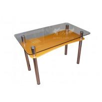 Стол обеденный С-1 M-Destin (стеклянный с дополнительной столешницей)