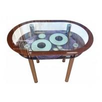 Стол обеденный С-15 M-Destin (стеклянный, овальной формы)