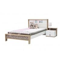 Кровать с мягким изголовьем Банни МatroLuxe (с высоким подголовником)