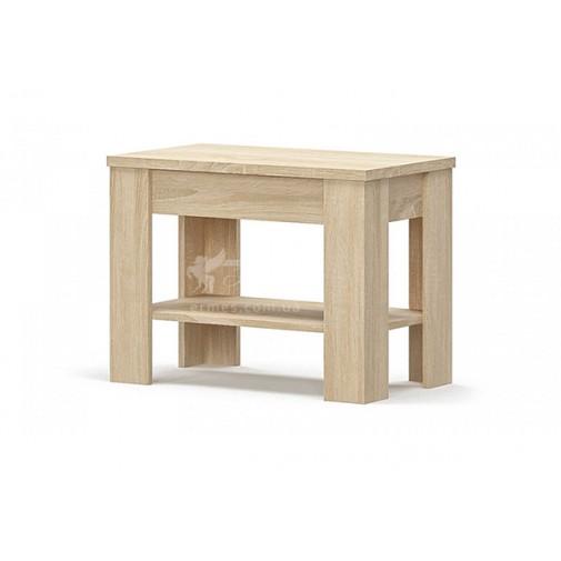 """Журнальний стіл 700 """"Гресс"""" Меблі Сервіс (квадратний з поліцією)"""