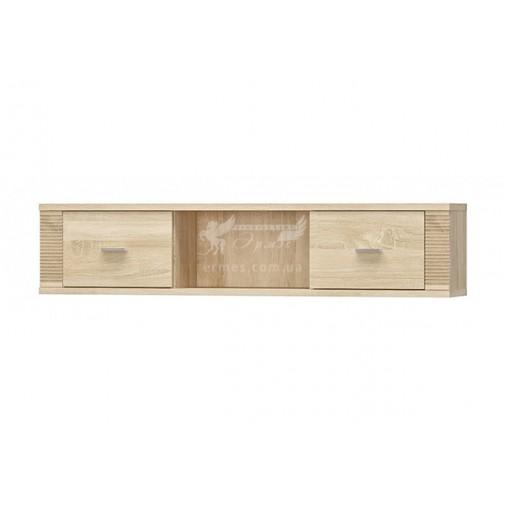 """Полка навесная 2Д """"Гресс"""" Мебель Сервис (широкая, с дверцами по бокам)"""