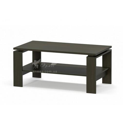 """Журнальный столик """"Кинг"""" Мебель Сервис (прямоугольный с полочкой)"""