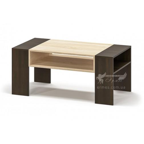 """Журнальный столик """"Престиж"""" Мебель Сервис (прямоугольный с полкой)"""