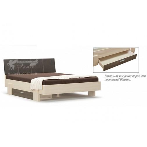 """Кровать 160 """"Кантри"""" Мебель Сервис (двуспальная с ящиком)"""