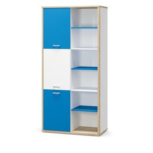"""Книжный шкаф """"Лео"""" Мебель Сервис (с открытыми секциями)"""