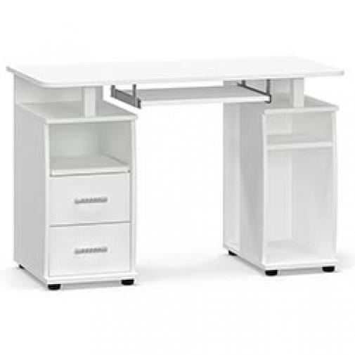 """Компьютерный стол """"Т-05"""" Мебель Сервис (белый с двумя тумбами)"""