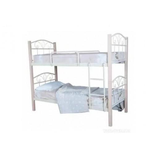 """Ліжко металеве двоярусне """"Лара Люкс"""" Melbi (з можлівістю поділу на окремі спальні місця)"""