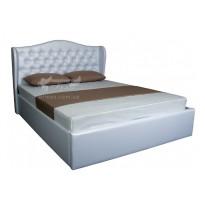 """Кровать """"Грация с подъёмным механизмом"""" Melbi (двуспальная, с мягким изголовьем)"""