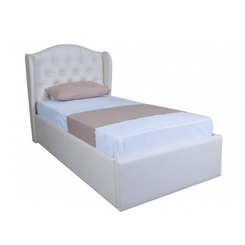 """Кровать """"Грация односпальная с подъёмным механизмом"""" Melbi (с высоким мягким изголовьем)"""
