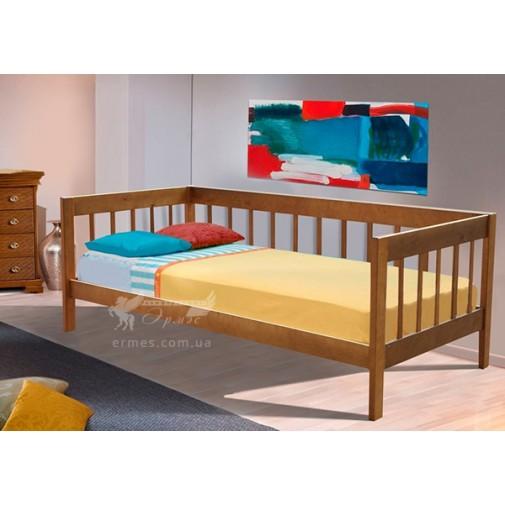 """Ліжко """"Малібу"""" Мікс меблі (дерев'яна з бортиками)"""