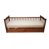 """Кровать """"Юниор"""" с одним забором Микс мебель (с ящиками)"""