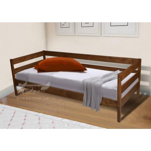 """Ліжко """"Sky-3"""" вільха / коньяк, венге Мікс меблі (односпальне, дерев'яна)"""
