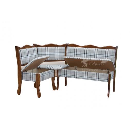 """Кухонный уголок """"Шотландия"""" Микс мебель (деревянная скамья)"""