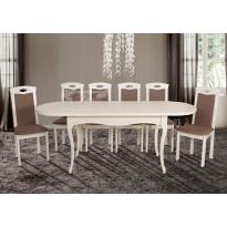 """Стол обеденный раскладной """"Оливер - Беж"""" Микс мебель (белый из дерева)"""
