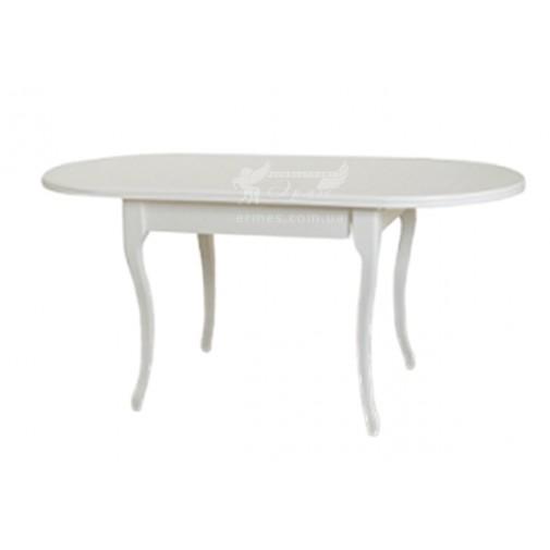 """Стол обеденный раскладной """"Твист - Беж, белый"""" Микс мебель (деревянный для гостиной)"""