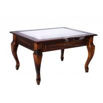 """Журнальный стол со стеклом """"Вега"""" Микс мебель (классический кофейный столик)"""