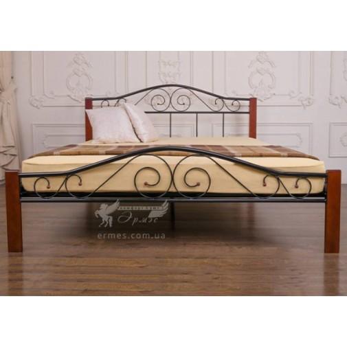 """Кровать """"Респект Вуд"""" чёрный Микс мебель"""