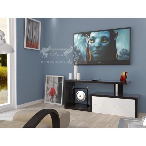 Тумба TV Line - 02 Неман (с белыми фасадами)