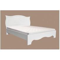 """Кровать """"Роза"""" Неман (белая с высоким изголовьем)"""