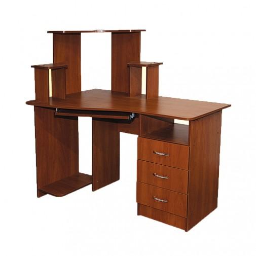Компьютерный стол Nika 1 Ника мебель (с открытой надстройкой)
