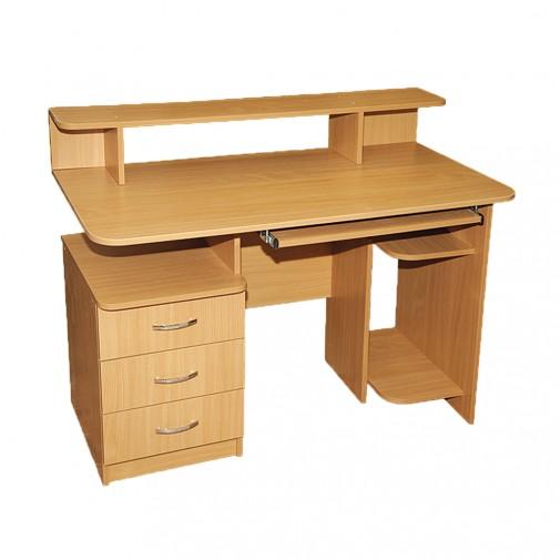 Компьютерный стол Nika 2 Ника мебель (с небольшой надстройкой)