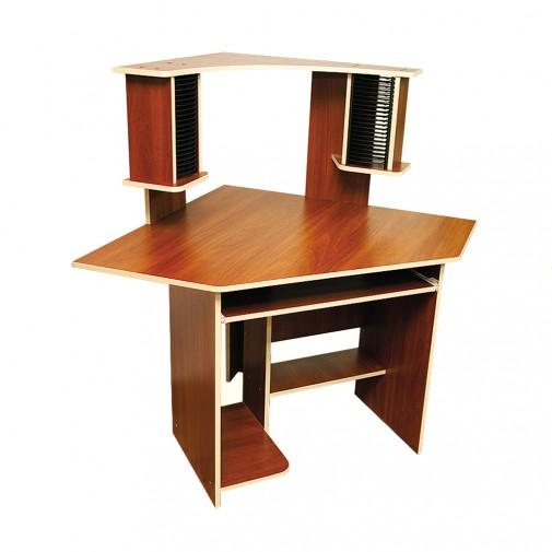 Комп'ютерний стіл Nika 3 Ніка меблі (кутовий з поліцією для колонок)